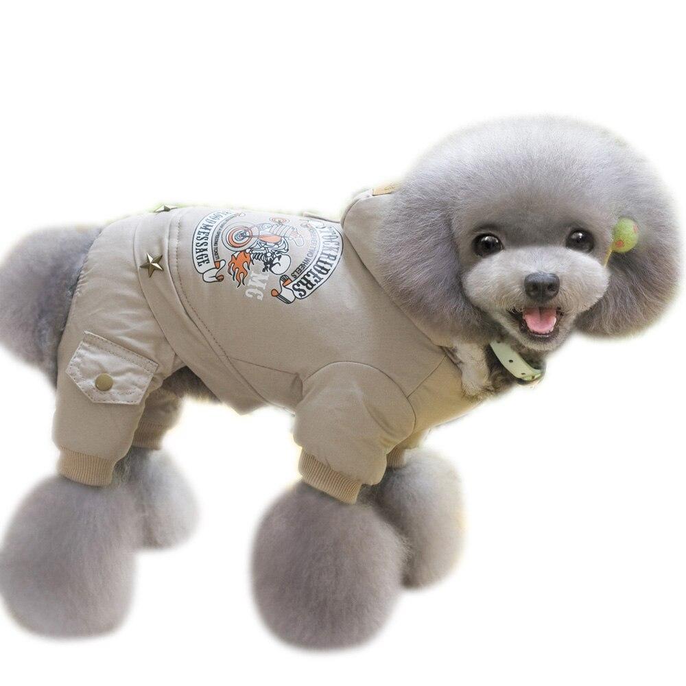 Ropa de invierno para perros y mascotas de 4 piernas, Sudadera con capucha caliente para perro, abrigo para exteriores a prueba de viento, chaquetas para perros