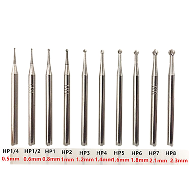 0.5 to 2.3mm  Dental Carbide Burs Rotary Tool Tungsten Carbide Round Rotary Burrs Burr Rotary Dremel Tools Electric