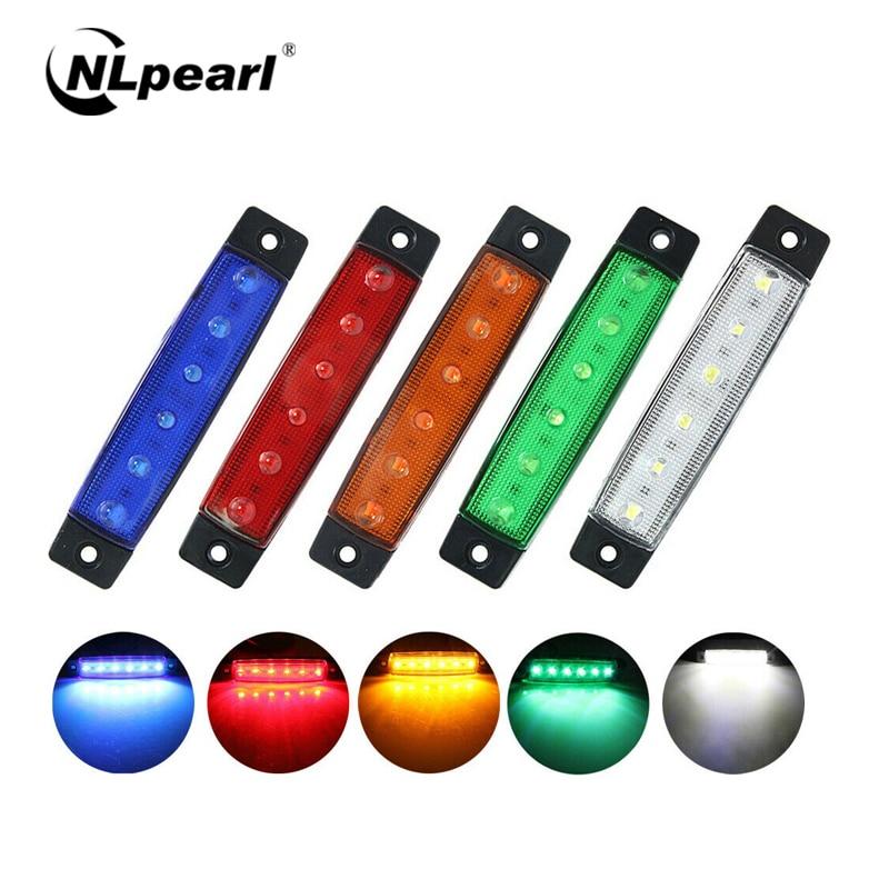 Nlpearl, montaje de luz de coche, luces externas LED 6SMD para camión, indicador lateral, luz de remolque, lámpara lateral trasera de 12V/24V