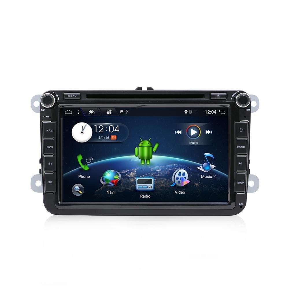 "Octa núcleo autoradio 2 din 8 ""android 9.0 leitor de rádio do carro dvd para vw/golf/passat/polo/tiguan/skoda/fabia gps 3g wifi swc bt"