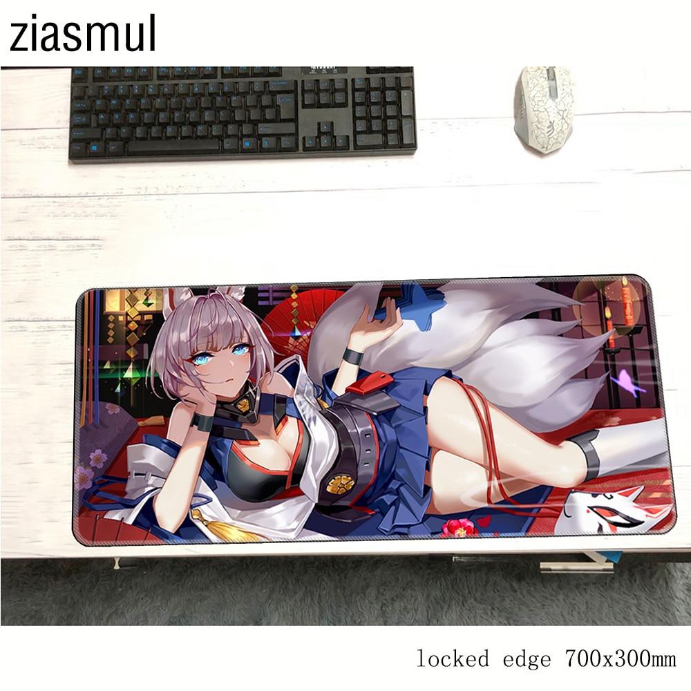 Alfombrilla de ratón Azur Lane padmouse Kawaii 70x30cm para juegos alfombrilla de ratón del juego gamer ordenador de escritorio más vendido alfombrilla ratón pc