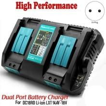 Быстрое зарядное устройство для литий-ионных аккумуляторов Dc18Rd с двумя Usb-портами 6 А 14,4-18 в для Makita Bl1415 Bl1430 Bl1815 Bl1830 с европейской вилкой