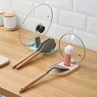 1pcs kitchen pot lid rack plastic spatula rack countertop kitchen shelves spoon storage rack