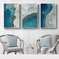 modern art seascape poster print coastline sea beach canvas wall art picture painting nature landscape nordic home decor 7 4