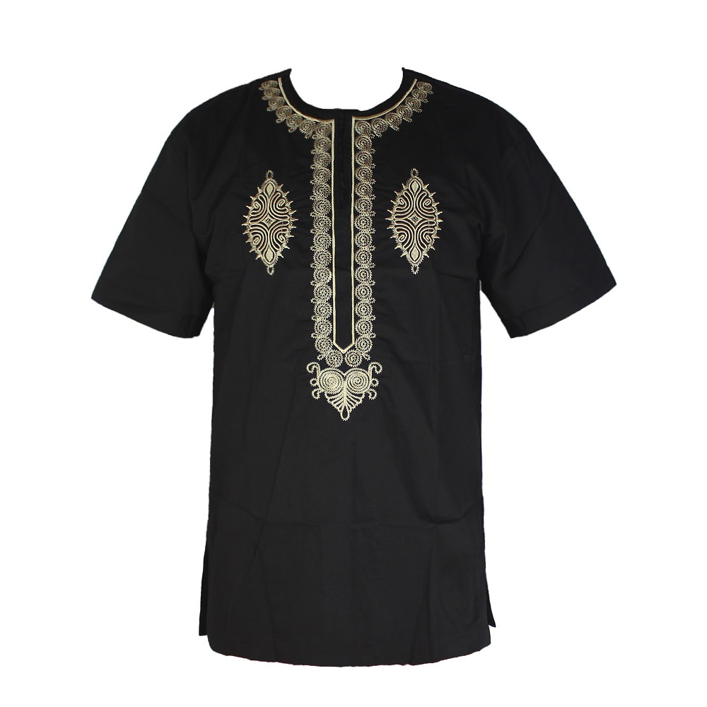 new african tranditional long loose dress vintage hippie dashiki caftan ethnic indian Dashiki dress for men Tops Mens African Vintage Woven High Quality Cotton Embroidered Ethnic T-shirt