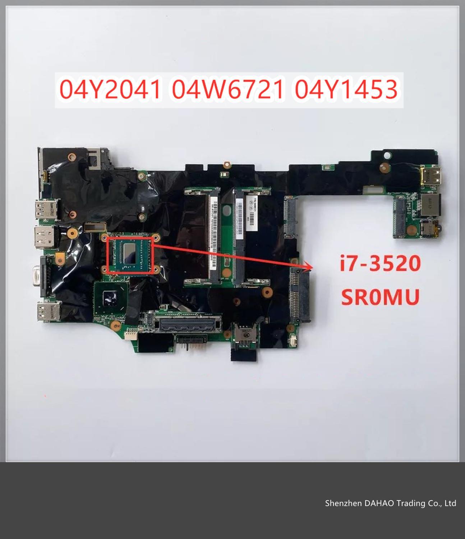 For Lenovo ThinkPad X230T X230 Tablet Laptop i7 i7-3520M Integrated Motherboard FRU 04W6721 04Y2041 04Y1453