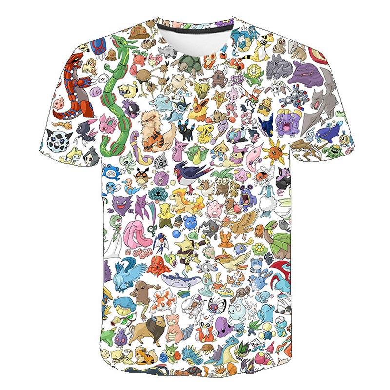 Pokemon Detektiv Pikachu 3D Gedruckt Kinder T-shirt Mode 2019 Sommer Kurzarm T shirt Tops Straße tragen Kinder T