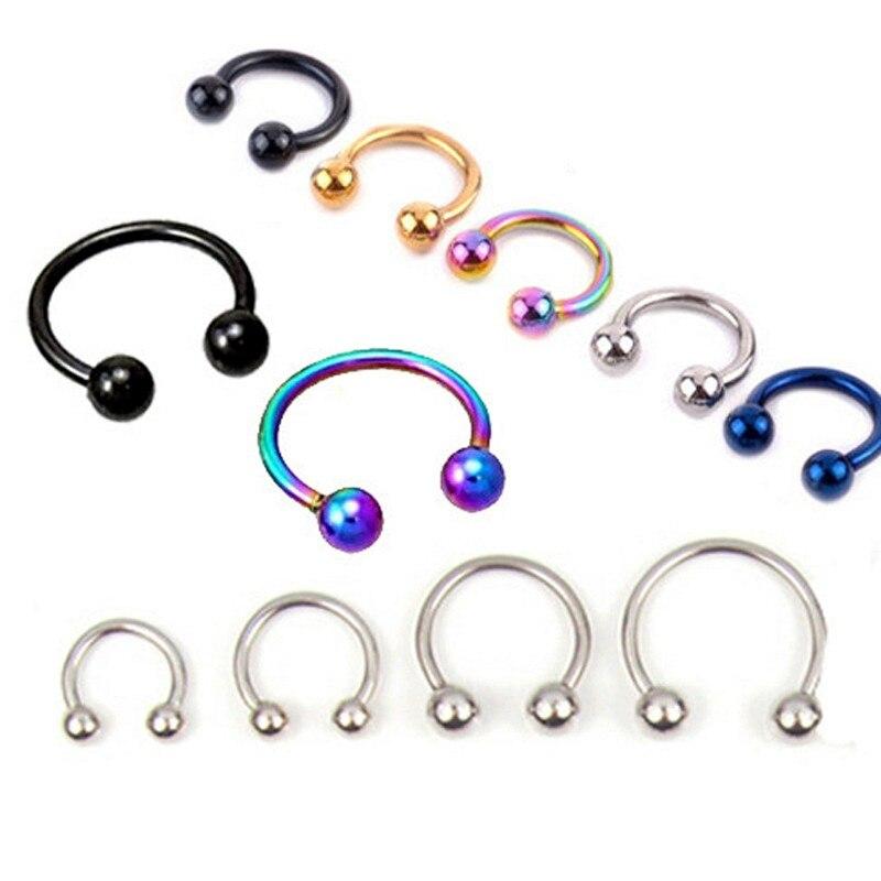 1pcs U Shaped Fake Nose Ring Hoop Septum Rings Stainless Steel Nose Piercing Fake Piercing Pircing J