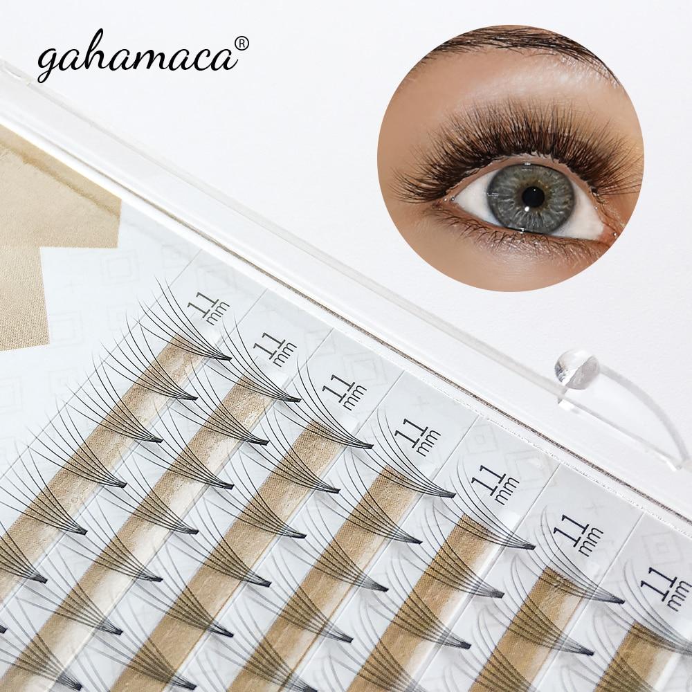 GAHAMACA 0,07 тонкий узкий база готовых объем вентиляторы, ненатуральные искусственные 2D3D4D5D6D накладные индивидуальное наращивание ресниц макия...