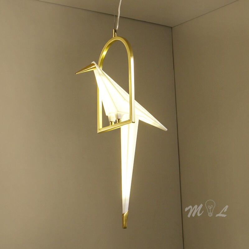 Modern Bird Lamp Pendant Lights Creative Light Bird Home Deco Bird Hanging Lamps Suspension Dining Room Lamp Pendant Living Room