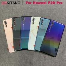 for Huawei P20 Pro Battery Cover Back Glass Panel Rear Door Housing Case+Camera Lens Replace For Hua