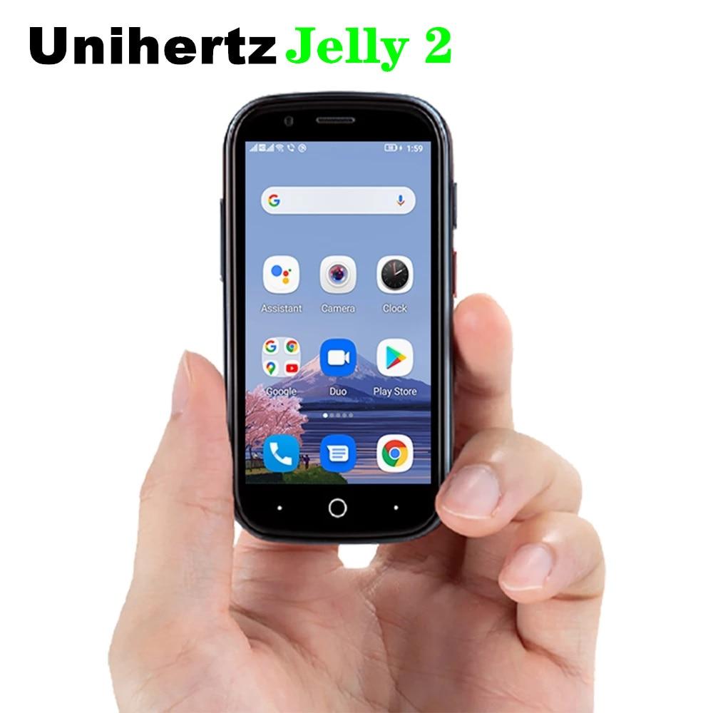 Original Unihertz Jelly 2 World's Smallest Mobile phone Android 10 Helio P60 Octa Core 4G LTE Smartphone 6GB+128GB NFC Cellphone