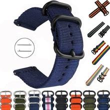 Cinturino 20mm 22mm per Samsung watch Galaxy 4/3/46mm/Active 2/Gear S3/amazfit cinturino in Nylon nato cinturino Huawei GT/2/2E/Pro