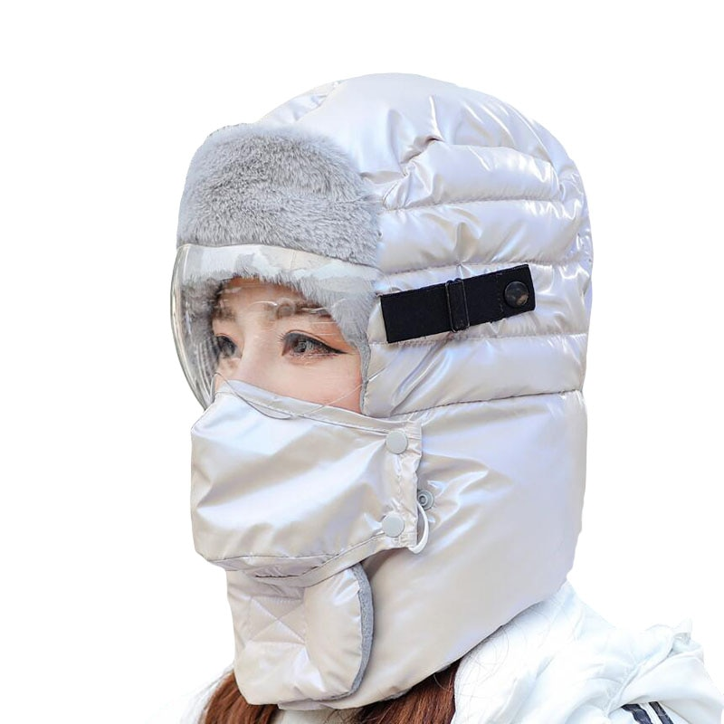 Оптовая продажа Высококачественная Женская Зимняя кепка защита ушей Lei Feng шапки-бомберы мужские уличные зимние защитные очки теплая шапка ...