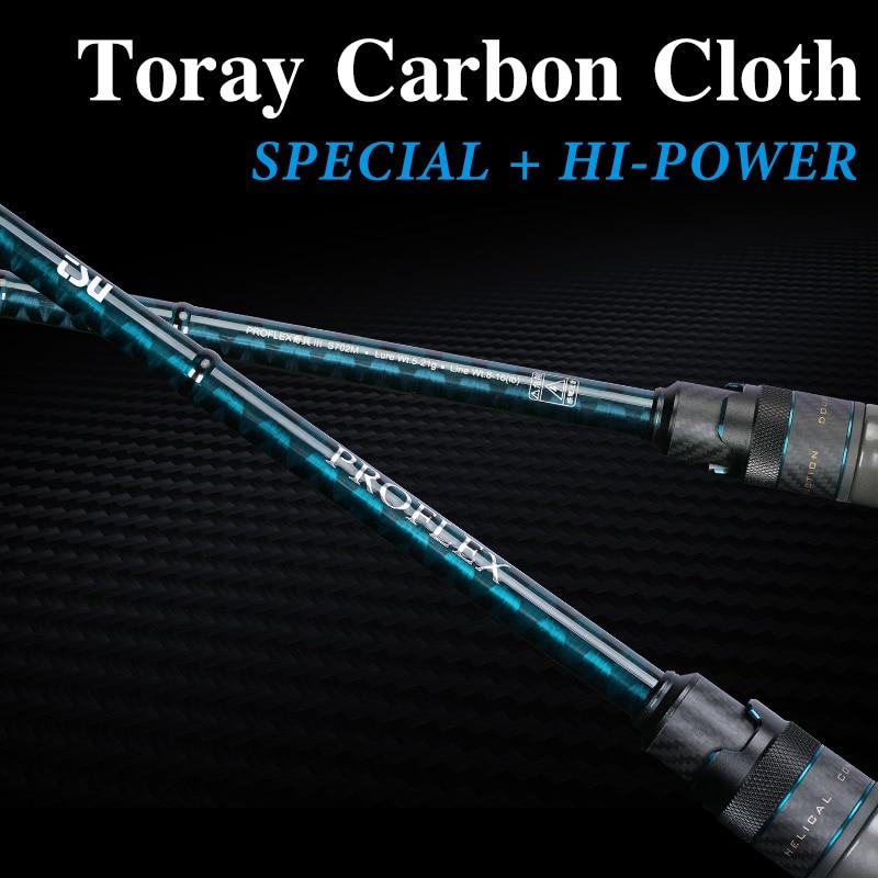 TSURINOYA PROFLEX III Fishing Rod L ML High Sensitivity Spinning Casting FUJI Ring Carbon Fast Action Outdoor Feeder Rod for Bas enlarge