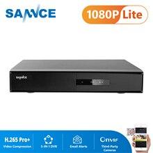SANNCE 16CH 5-en-1 1080N Surveillance DVR H.265 + enregistreur vidéo de sécurité à domicile pour 720P 1080P caméras IP système de vidéosurveillance DVR