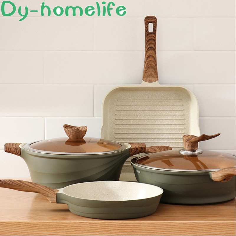 طباخ يدوي إبداعي على الطريقة اليابانية ، غير لاصق ، مطبخ ، منزل ، طباخ حساء متعدد الوظائف