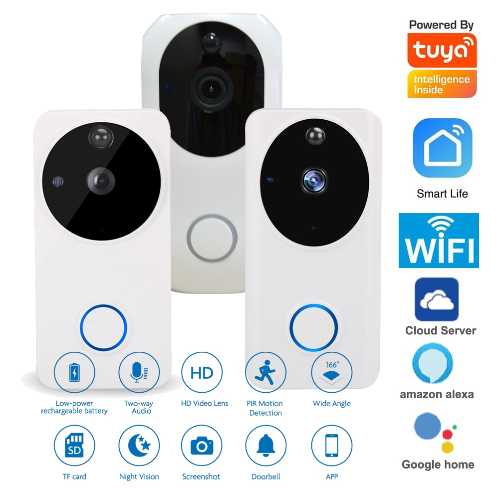 wireless wifi ip box for video doorphone doorbell building intercom system control 3g 4g android iphone ipad app on smart phone 2.4G WIFI Wireless Smart life app Video doorphone Night vision camera video recorder doorbell for visitor