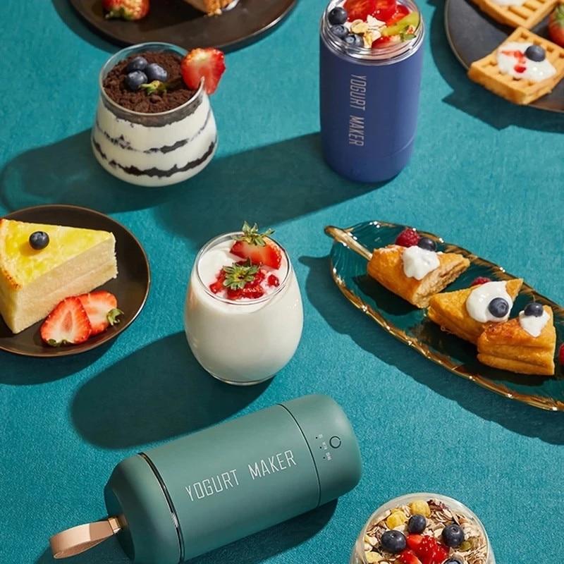 المحمولة USB التلقائي جهاز صنع زبادي آلة درجة حرارة ثابتة المحمولة السفر Yogurtera كوب آلة التخمير