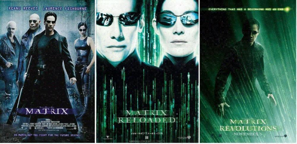 The Matrix Reloaded Revolutions Trilogy Movie Art Film Print Silk Poster Home Wall Decor 24x36inch