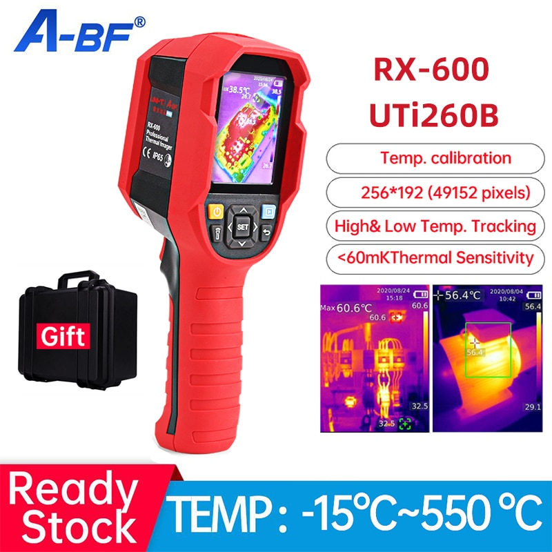UNI-T الأشعة تحت الحمراء الحرارية تصوير PCB الدائرة الطابق جدار التدفئة الأنابيب الصناعية كشف كاميرا تصوير حراري UTi260B RX-600