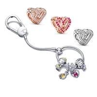 latest jewelry gifts for women bracelets keychain diy love charms fit original pandora 925sterling silver beadeds bangle llavero