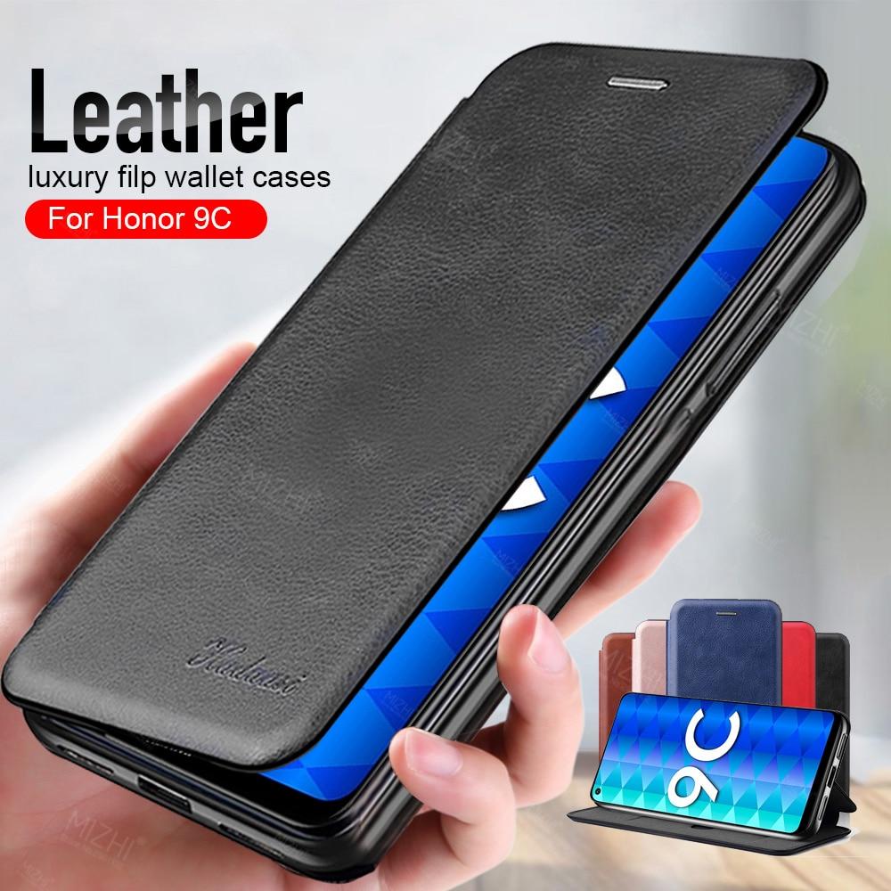 Honor 9c Case Leather Flip Magnetic Case Voor Huawei Honor 9c 9 C Aka-l29 Honor9c Wallet Stand Boek Telefoon Cover coque Fundas 6.39