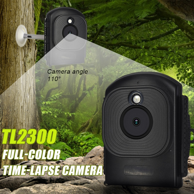 Time-Lapse Camera support multi-languages Built-in Microphone/Speaker Digital Timer Full Color Outdoor Wide Angle Video Recorder