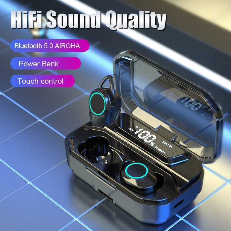 Wireless Earbuds Bluetooth Earphone 3300mAh Charge Case Battery Type-C Microphone Waterproof Stereo Headset For Mobile Phones enlarge