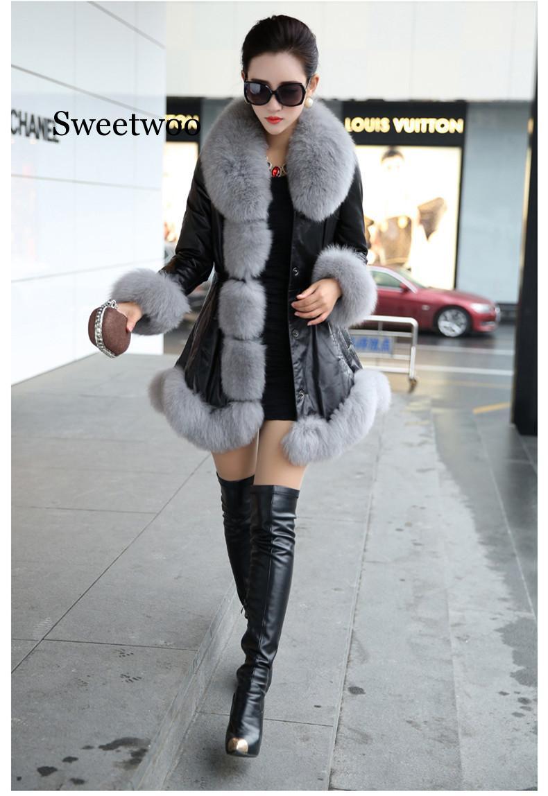Лидер продаж, зимние женские шубы из искусственного меха, высококачественные шубы из искусственной овчины, сохраняющие тепло с меховыми ли...
