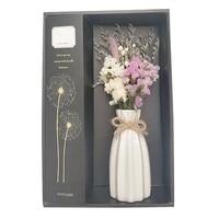 Ensemble de diffuseur darome  fleur seche avec Vase  parfum de bureau  soulage le Stress  decoration de maison  huile essentielle