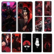 Japon dessin animé anime Naruto Itachi peinture hoesjes noir étui de téléphone pour Samsung Galaxy S 3 4 5 6 7 8 9 10 Plus bord Lite