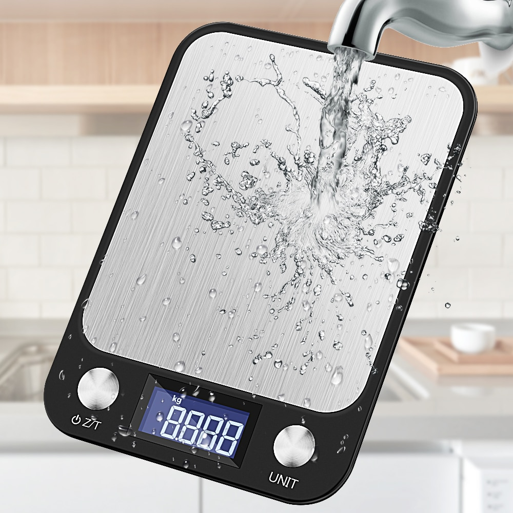 5-10kg Kitchen Scale Touch Button LCD Display Multi-Function Digital Food 0.1g Stainless Steel Weighing Cooking Tools Balance