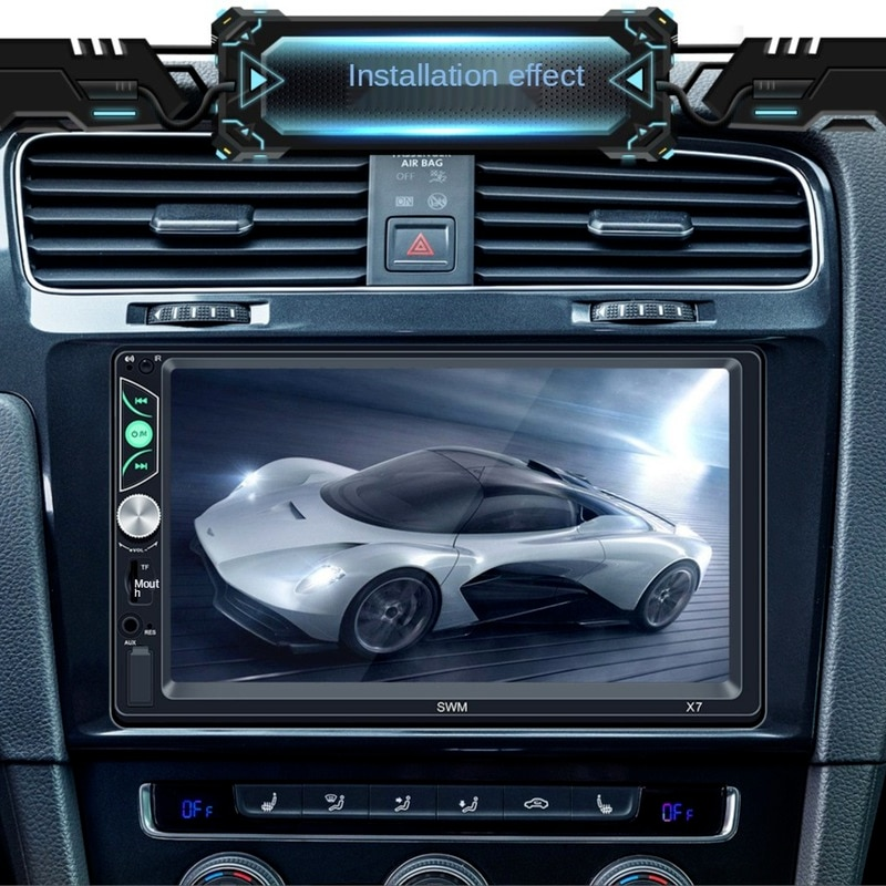 Ymesy High-definition 7-inch Car Bluetooth MP5 Player, Car Audio and Video MP4, Apple/Android Mobile Phone Interconnection Host enlarge