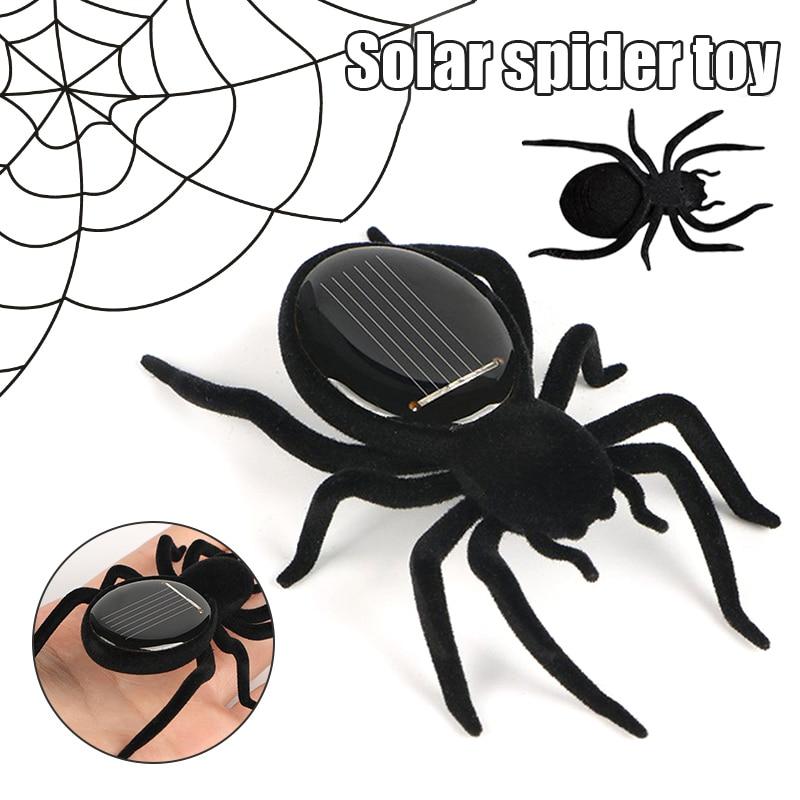 Solar Powered Automatische Solar Spinne Educational Robot Scary Insekten Gadget Trick Kinder Roboter Spielzeug BM88