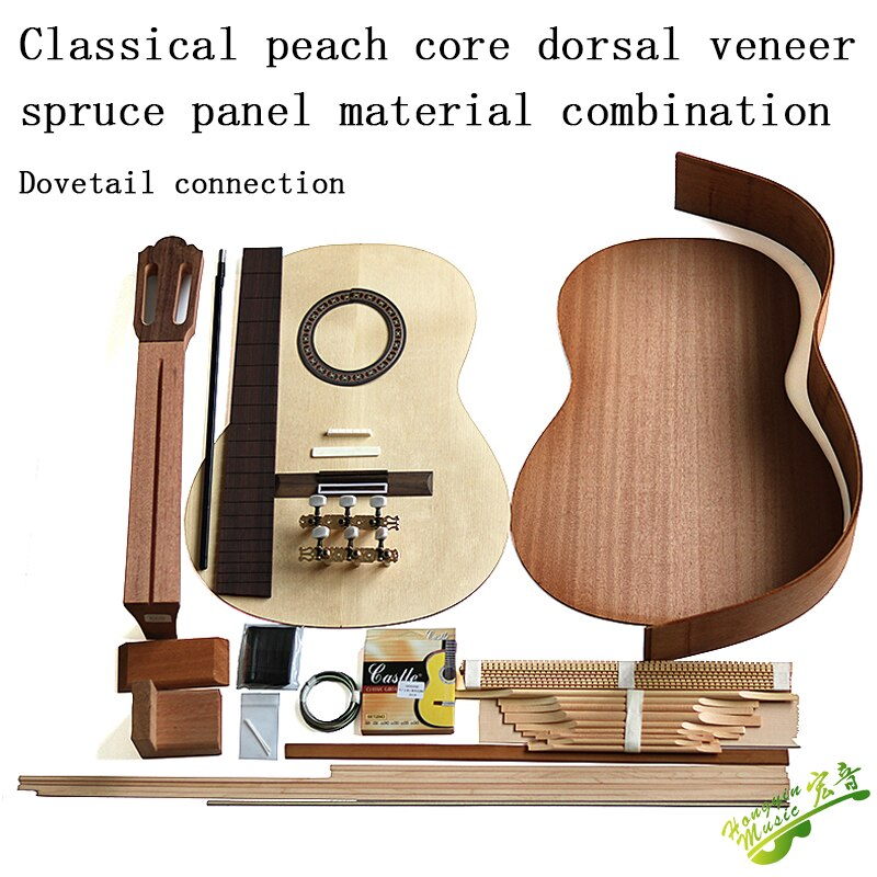 Guitarra Clásica material accesorios khaya de madera maciza atrás Spruce placa superior de madera maciza cerradura y tenon joint
