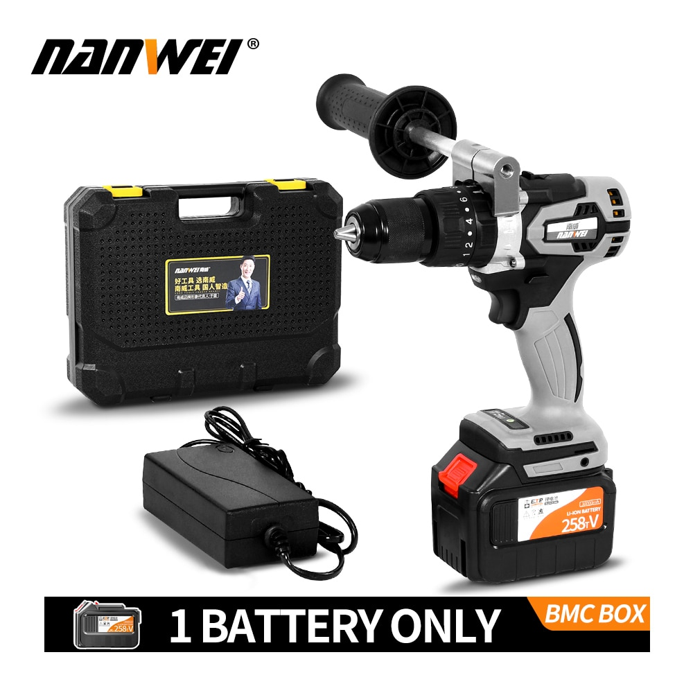 Electric Cordless Screwdriver Impact Drill 3/8
