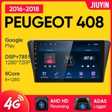 JIUYIN Android Car Radio For Peugeot 408 2016 - 2018 Multimedia Video Player Car Navigation GPS No 2