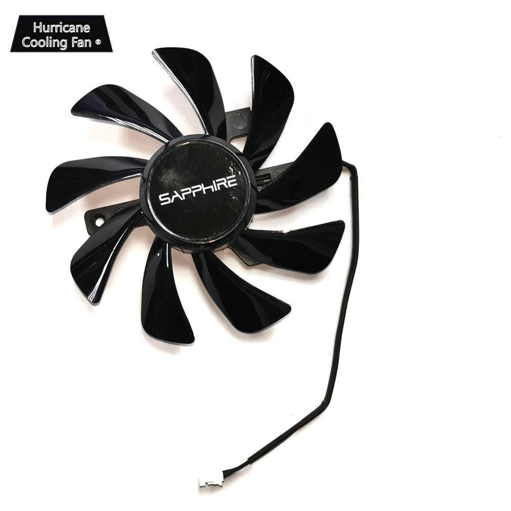 Новый кулер для видеокарты Sapphire RX 570, вентилятор для Видеокарты Radeon sapphire RX570 ITX, Система Охлаждения видеокарты в качестве замены