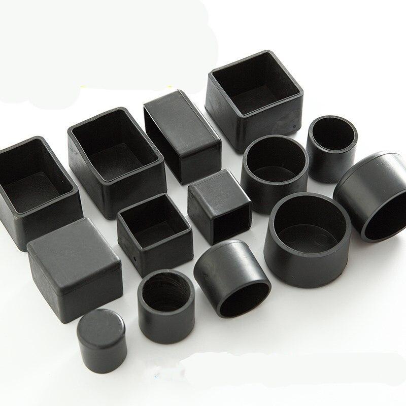 4 pièces carré silicone chaise jambières anti-dérapant Table pied cache poussière chaussettes protecteur de sol coussinets tuyaux bouchons meubles nivellement pieds