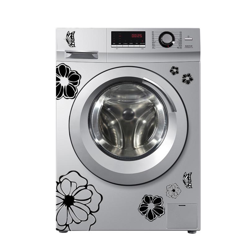 Pegatinas de alta calidad para lavarse el hogar, pegatinas de pared de flores y mariposas, decoración del hogar para la cocina, papel tapiz de baño