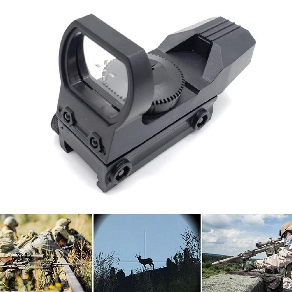Toy Plastic Hunting sight Hot 20mm Rail Riflescope Hunting Optics Holographic Red Dot Sight Reflex 4 Reticle Tactical Scope