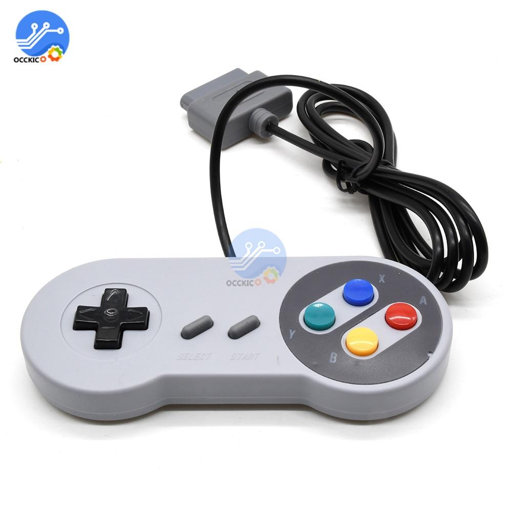 Gamepad para controle de jogos, 16 bits, abs, controle para snes, sistema, console