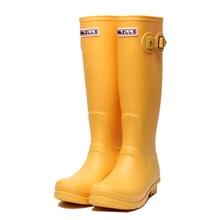 Bottes de pluie en caoutchouc bottes de pluie hautes pour femmes bottes de pluie imperméables classiques britanniques dames Wellies Wellington bottes mates F54