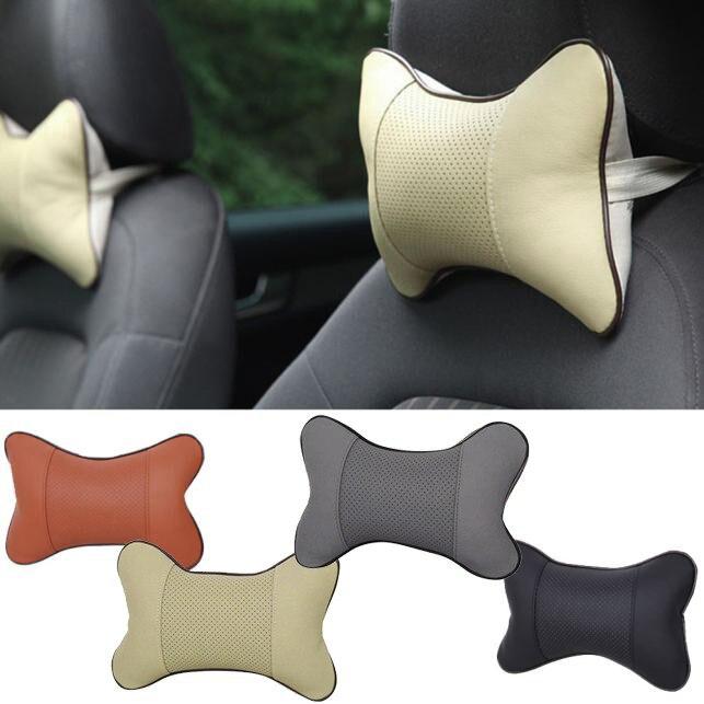 1 Uds. Almohadas universales para el cuello de coche de cuero de PVC de malla transpirable para el cuello de coche, almohadón para reposacabezas de coche, accesorios para el Interior del coche