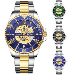 Luxury Mechanical Watch for Men Automatic Self-winding Wristwatch Waterproof Outdoor Sport Clock Stainless Steel Cool Male Reloj