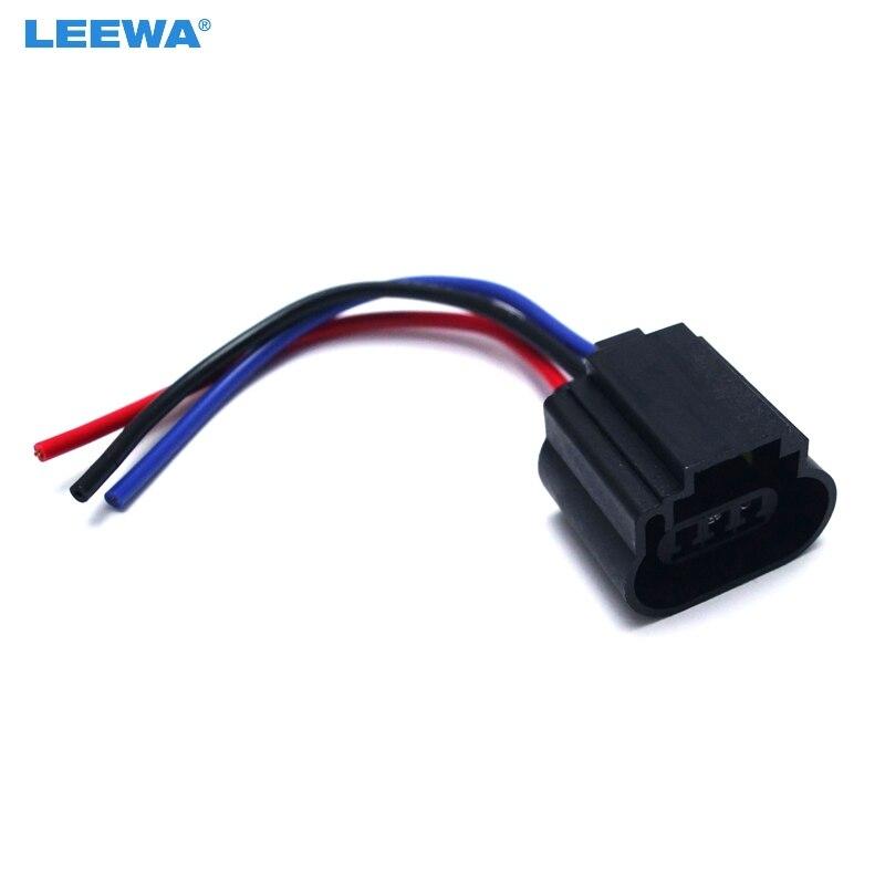 FEELDO 1PC coche H13 carcasa de plástico hembra halógeno LED titular de la lámpara de cabeza conector adaptador de enchufe de cable # CT1862