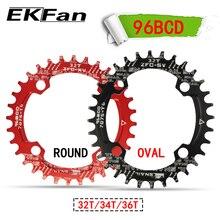 Salyangoz MTB 96BCD yuvarlak Oval 32T 34T 36T bisiklet Ultralight A7075-T6 aynakol bisiklet aynakol plaka