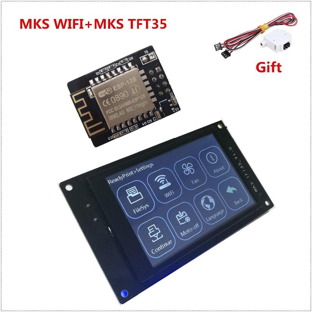 "3d impresora de pantalla MKS TFT35 V1.0 pantalla táctil + 3d impresora módulo WiFi monitor 3,5 inch LCD panel 3,5 ""TFT partes"
