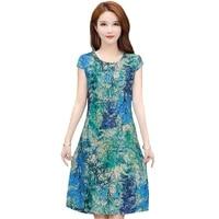 vintage summer dress plus size dresses vestido print natural regular fanmuer short sleeve o neck straight casual cotton women